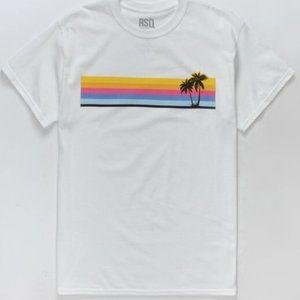 RSQ white short sleeve shirt size large